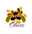 black olive fruits symbol for food design vector image vector image