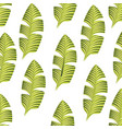 tropical leafs decorative icon vector image vector image