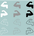 strong hand bodybuilder flat and path icon vector image