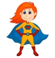 Superhero kid cartoon vector image