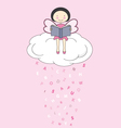 fairy on a cloud reading vector image vector image