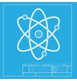 Atom sign  White section of icon on vector image