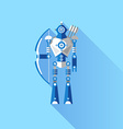 Cute Robot Knight vector image