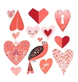 Graphic heart set vector image