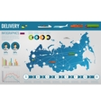 Russian Federation transportation and logistics vector image
