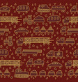 seamless pattern with fun transport vector image