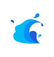 simple wave splash vector image