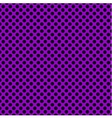 Tile pattern with black polka dots on violet vector image