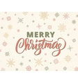 Merry christmas typography against background with vector image vector image