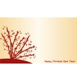 Happy Chinese New Year of backgrounds vector image