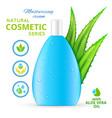 moisturizing cream natural cosmetics design vector image