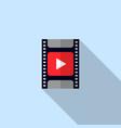 video icon movie filmstrip vector image