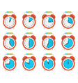 Alarm Clock - Time Countdown Set Isolated on White vector image