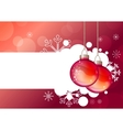 christmas background with hanging balls vector image vector image