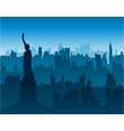 new york cityscape background vector image