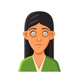 Young Woman Avatar Portrait Userpic on White vector image