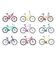 Bicycle Set Design Flat Isolated vector image