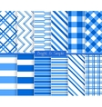 Bright and simple blue stripes pattern set vector image