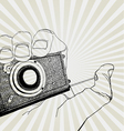 camera in hand vector image