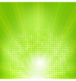 Eco Green Background With Sunburst vector image