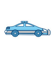 isolated police car vector image