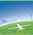 kiev skyline flight destination vector image