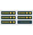 rectangular horizontal buttons exchange vector image