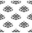 Seamless pattern for damask style fabric vector image