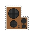 speaker baffle audio music dotted line vector image