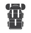 Tourist Backpack Rucksack Icon vector image