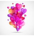 Valentines Day background with flying hearts vector image vector image