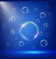 stage illumination with spotlights and bubbles vector image