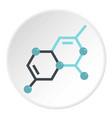 group of atoms forming molecule icon circle vector image