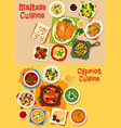 cypriot and maltese cuisine icon set food design vector image