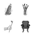 travel sports and other monochrome icon in vector image