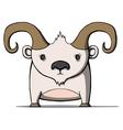 Funny cartoon goat vector image