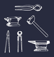 Set of vintage tools icon vector image