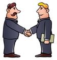 business men shaking hands vector image