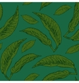 Hand Drawn Seamless Leaf Pattern vector image