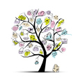 Shopping bag tree vector image