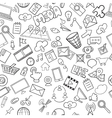 social media seamless pattern vector image