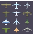 Air plane top view vector image