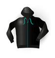Black sport raincoat vector image