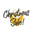 christmas sale lettering and typography elements vector image