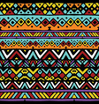 ethnic mexican tribal colored stripes seamless vector image