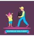 Express Delivery Symbols vector image