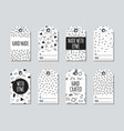 gift tags and cards set with memphis elements vector image