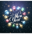 Happy New Year Christmas Lights vector image