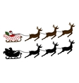 Santa Claus is flying in a sleigh vector image