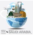 Saudi Arabia Landmark Global Travel And Journey vector image
